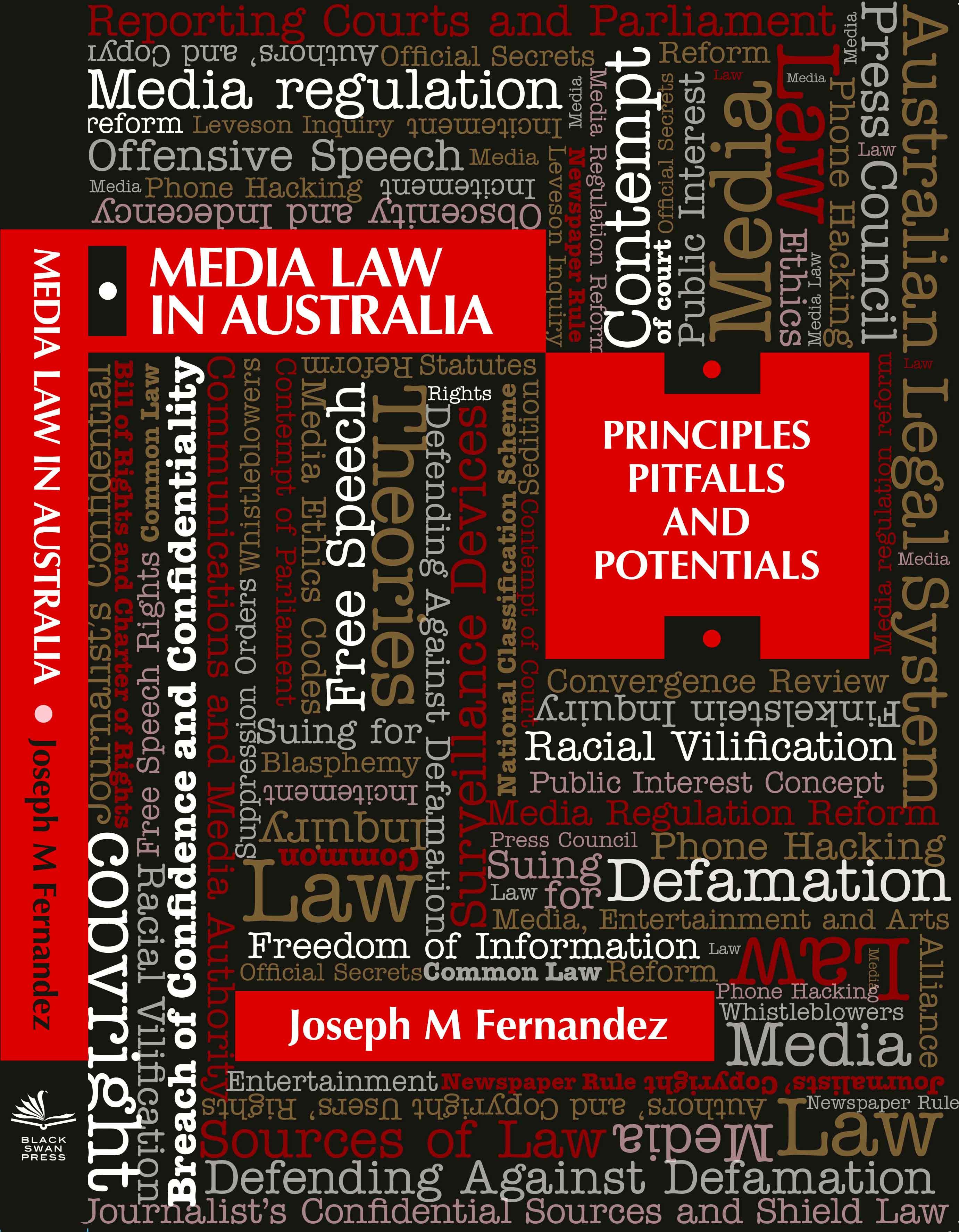 Media Law in Australia book cover by Joseph M Fernandez